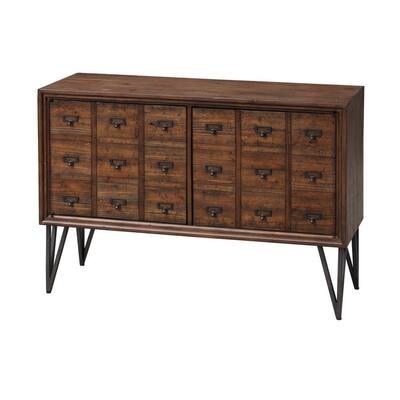 Oxford Distressed Brown 2-Door Cabinet