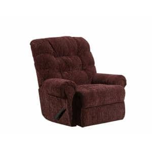 Reflex 40 in. Width Big and Tall Merlot Pattern Chenille Rocking Zero Gravity Recliner