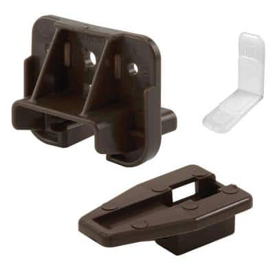Dark Brown, Drawer Track Guide and Glide (2-pack)