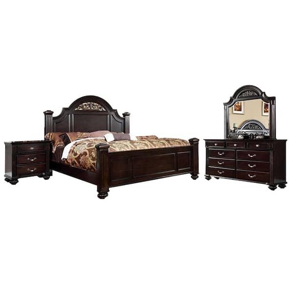 William S Home Furnishing Syracuse Dark, Walnut Queen Bed Set
