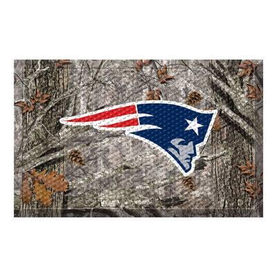NFL - New England Patriots 19 in. x 30 in. Outdoor Camo Scraper Mat Door Mat