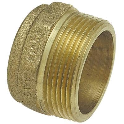 1-1/2 in. Bronze DWV Copper Cup x MIP Male Adapter Fitting