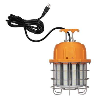 60-Watt Orange and Chrome Integrated High-Lumen LED Plug-In Work Light