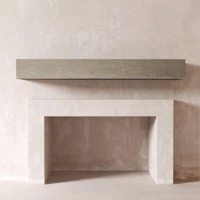 DESSIE 72 in. Fireplace Wall Cap-Shelf Mantel in Rustic Grey