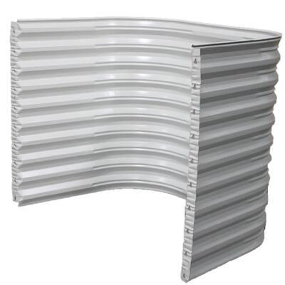 68 in. W x 60 in. H x 36 in. Projection White Steel Egress Window Well