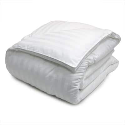 500 Thread Count White Damask Down Alternative Comforter