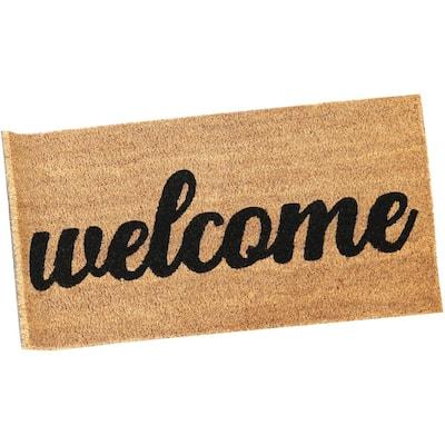 "17"" x 30"" Indoor/Outdoor PVC/Coir Welcome Entrance Mat"