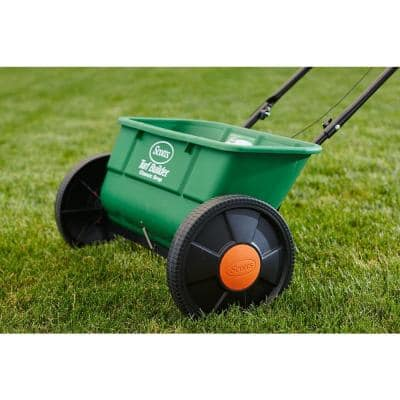 25 lbs. 10,000 sq. ft. Turf Builder Classic Drop Spreader for Seed and Fertilizer