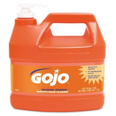 1 gal. Natural Orange Citrus Scent Smooth Hand Cleaner in Pump Dispenser (Case of 4)