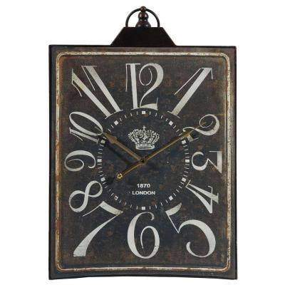 26 in. x 16 in. Metal Tabletop Clock