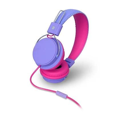 Earfoam Layers High Performance Headphones with Mic in Purple