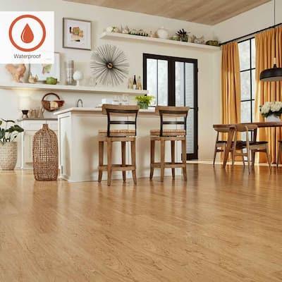 Outlast+ 5.23 in. W Northern Blonde Maple Waterproof Laminate Wood Flooring (13.74 sq. ft./case)