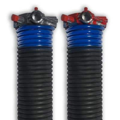 0.262 in. Wire x 2 in. D x 38 in. L Torsion Springs in Blue Left and Right Wound Pair for Sectional Garage Door