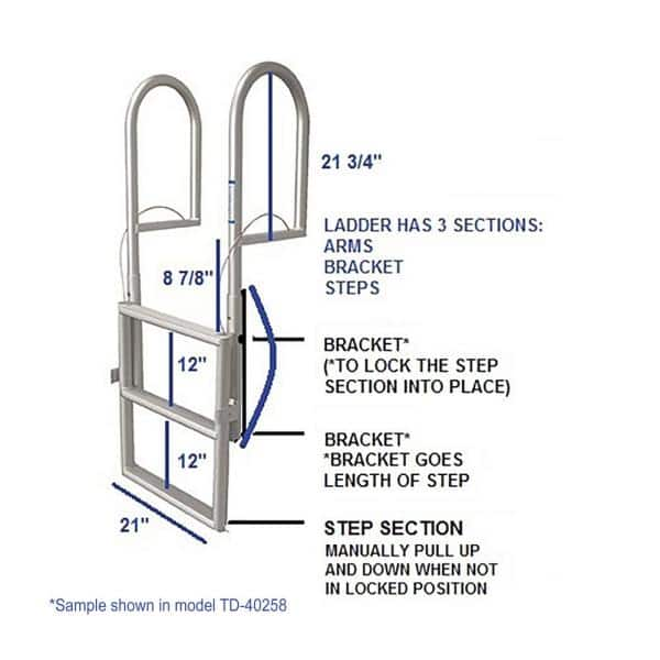 Tommy Docks 7 Rung Step Wide Lifting Aluminum Ladder Td 40262 The Home Depot