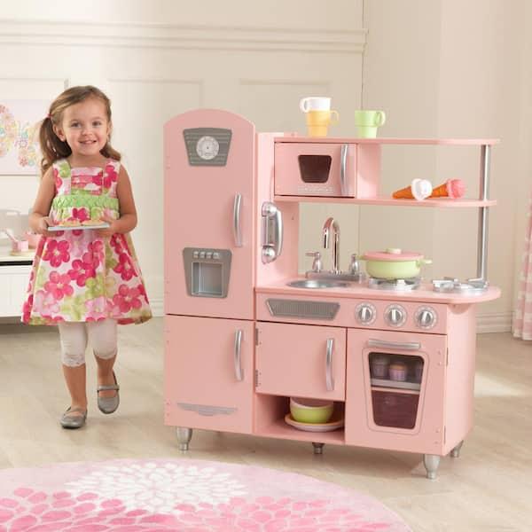 Kidkraft Pink Vintage Kitchen Playset 53179 The Home Depot