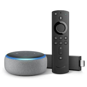 Echo Dot Gen 3 Plus Fire TV Stick 4K in Gray