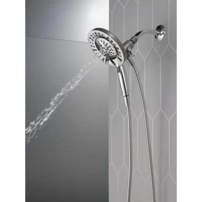 In2ition Two-in-One 5-Spray Patterns 6.63 in. Wall Mount Dual Shower Heads in Chrome