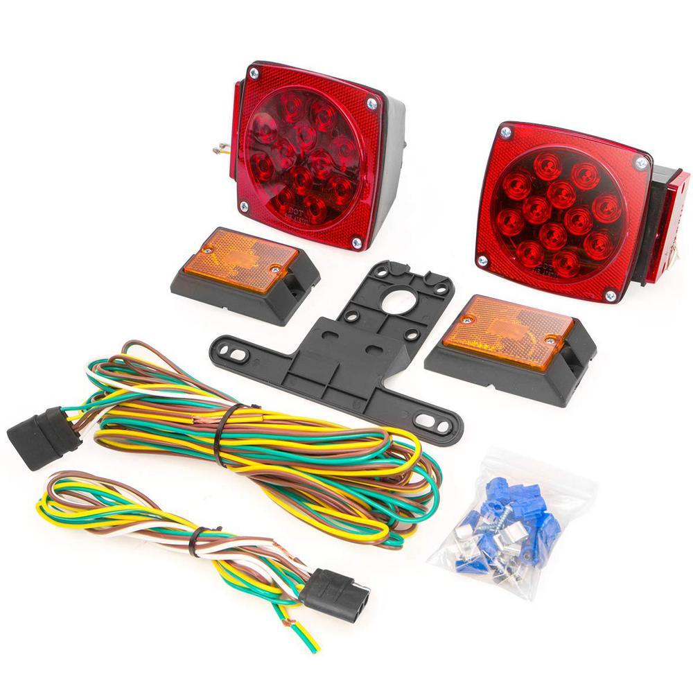 1 ft. 12-Volt LED Universal Mount Combination Trailer Tail Cable Light Kit