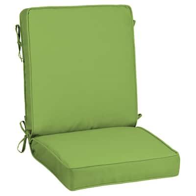 21 x 44 Sunbrella Canvas Gingko Outdoor Dining Chair Cushion
