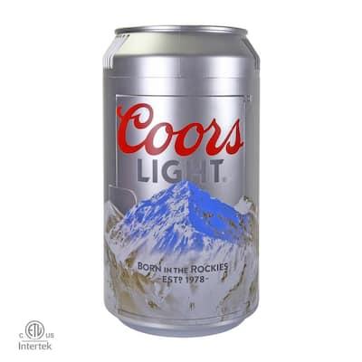 0.65 cu. ft. Coors Light Mini Fridge in Silver