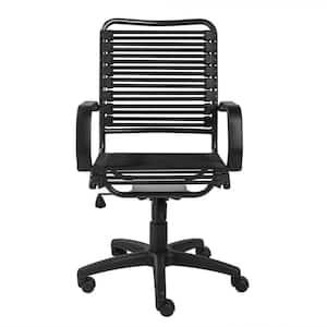 Amelia Black Bungie Flat High Back Office/Desk Chair