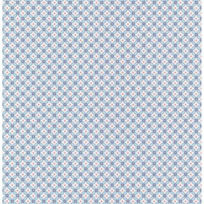 Eebe Light Blue Floral Geometric Wallpaper
