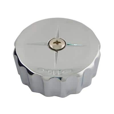 Volume Handle Knob in Chrome Metal for Mixet Tub and Shower Faucets