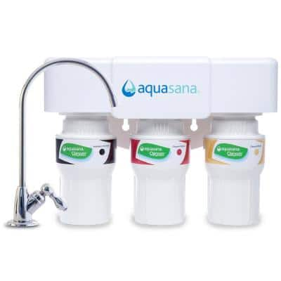 3-Stage Under Counter Water Filtration System with Faucet in Chrome