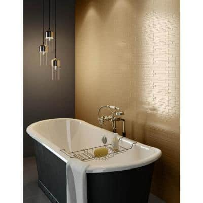 Murano LC Light Copper 12.2 in. X 9.72 in. X 5 mm Metal Peel and Stick Wall Mosaic Tile (19.68 sq. ft. / case)
