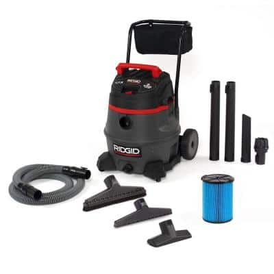 14 Gal. 2-Stage Commercial Wet/Dry Shop Vacuum with Fine Dust Filter, Professional Hose and Accessories