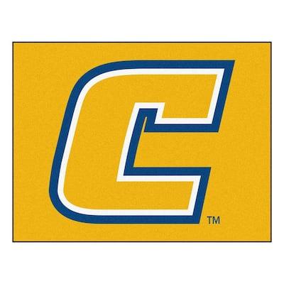 NCAA University Tennessee Chattanooga Yellow 3 ft. x 4 ft. Area Rug