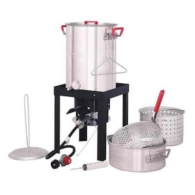 30 Qt. Turkey and 10 Qt. Fish Fryer Boiler Steamer Set