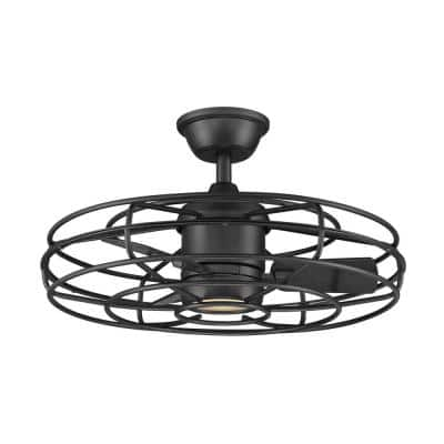 Heritage Point 25 in. Integrated LED Indoor Natural Iron Ceiling Fan with Light and Remote Control