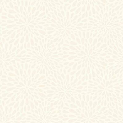 Calendula Beige Modern Floral Beige Wallpaper Sample