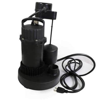 1/3 HP Heavy-Duty Submersible Sump Pump with Float Switch