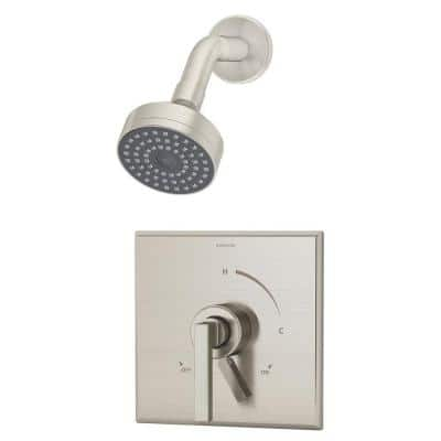 Duro 1-Handle Wall-Mounted Shower Trim Kit in Satin Nickel (Valve not Included)