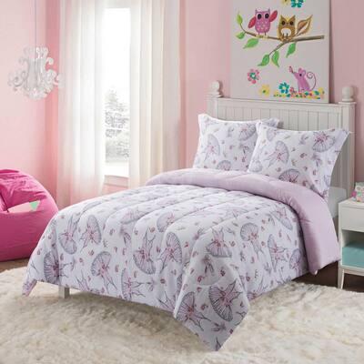 Swan Lake 2-Piece Pink Twin Comforter Set