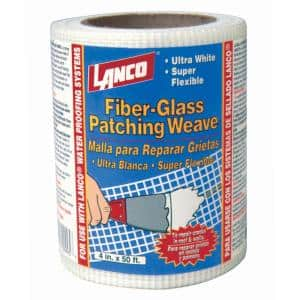 4 in. x 50 ft. Fiberglass Patching Weave Roll Flashing for Crack Repair Reinforcement