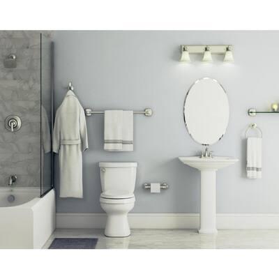 Mandara 3-Piece Bath Hardware Set in Brushed Nickel with Towel Ring, Toilet Paper Holder and Towel Hook