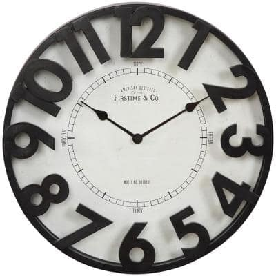 FirsTime & Co. Brown Manor Park Wall Clock