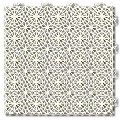 XL tiles 1.24 ft. x 1.24 ft. PVC Deck Tiles in Sandstorm (35 Tiles per Case)