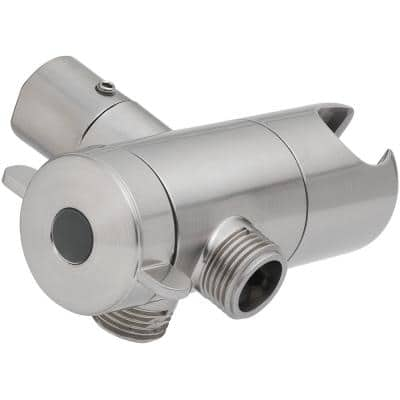 3-Way Diverter with Mount in Brushed Nickel