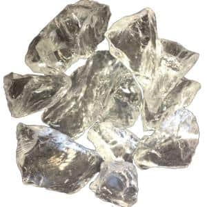 0.75 in. Ice Clear Recycled Fire Glass