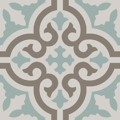 Casablanca Aqua 8 in. x 8 in. Matte Ceramic Floor and Wall Tile (12.7 sq. ft. / Case)