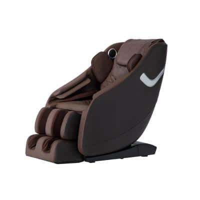 Therapy Series Brown Multi-Therapy Programming and Bluetooth Fitness and Wellness Zero Gravity Massage Chair