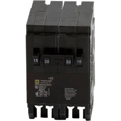 Homeline 2-15 Amp Single-Pole 1-30 Amp 2-Pole Quad Tandem Circuit Breaker