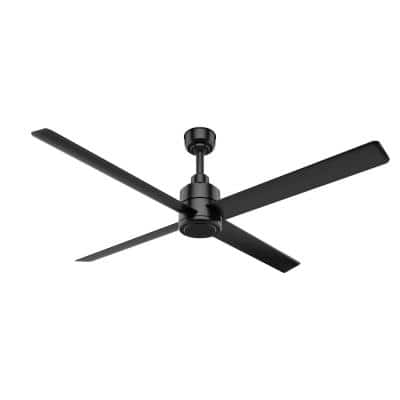 Trak 84 in. Indoor/Outdoor Matte Black Commercial Ceiling Fan with Wall Control