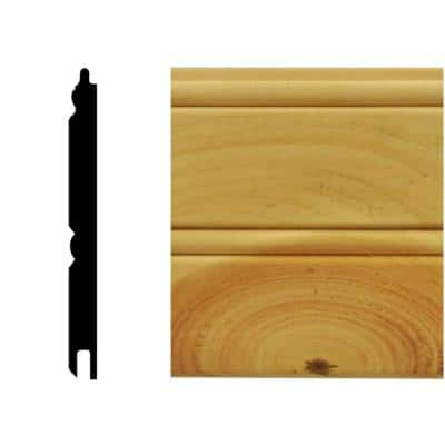 0.67 sq. ft. North America Knotty Pine Tongue and Groove Wainscot Paneling
