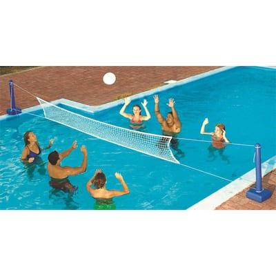White Cross Inground Swimming Pool Fun Volleyball Net Game Water Set