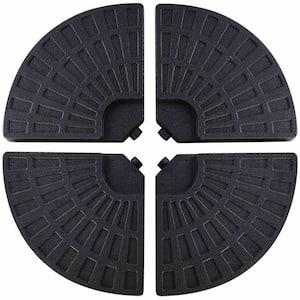 14 lbs. 4 Plate HDPE Patio Umbrella Base in Black